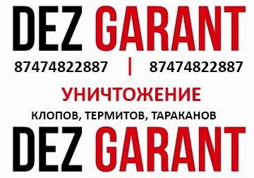 Dezgarant-уничтожение клопов, тараканов, клопов в Актау. Логотип компании.